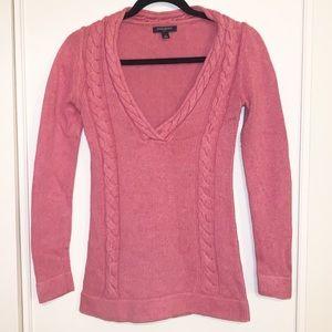Banana Republic Pink XS Knit Sweater V-Neck